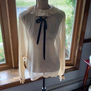 Chanel vintage sheer blouse.
